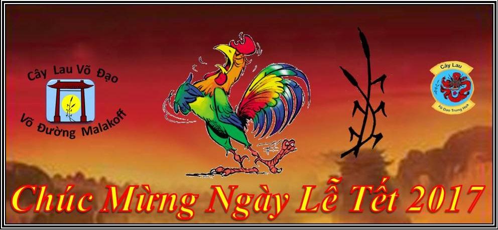 Toute la Team du Cây Lau Võ Đạo Võ Đường Malakoff vous souhaite de passer une Bonne Fête du Têt.