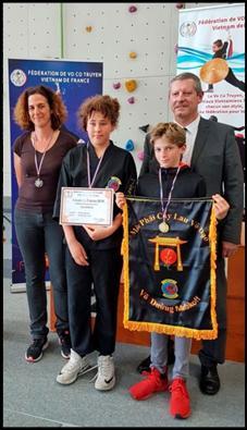Félicitations à Ulysse 1er, Noa et Julie 2ème dans leur catégorie combat